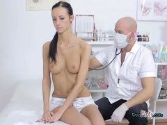Skinny Slut Martina Gets Felt Up By Doctor