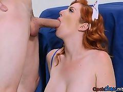 Curvy Nurse Lauren Phillips Milks Patients Big Cock