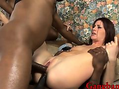 Cici Rhodes double stuffed by black guys
