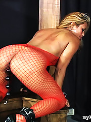 Scott strips Maxine down to a fishnet body suits