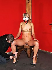 Kinky Dylan gets tied up in rope and whipped in this sexy bondage scene