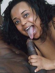 Big ebony mama rides a hard cock
