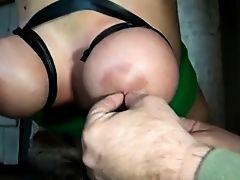 slave hanging hogtied