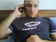 horny turkish man play his cock