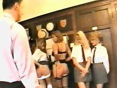 Naughty Schoolgirls Arse Spanked!