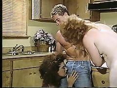 Threesome in the kitchen