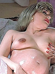 Creamed Preggy Blonde