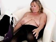 Sexy Granny Masturbating