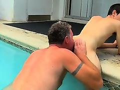 Twink movie of Brett Anderson is one fortunate daddy, he\'s m