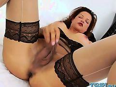 Glamour big boobs tranny Susy Gomes teasing on camera