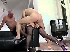 Mature British lady getting double penetration