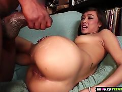 BrokenTeens  Tight Asian Teen Getting Her Pussy Stretched