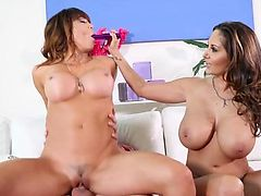 Mia Lelani shares a cock with Ava Addams