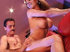 Horny mom cum drenched by hard meat