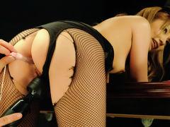 Fabulous Japanese girl Sena Aragaki in Incredible JAV uncensored Stockings video