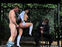 Abella Danger doggystyle public sex