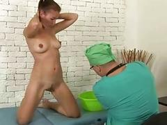 Complete gyno examination for sexy young lady