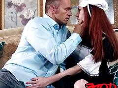 Innocent redhead Kassondra Raine wants to know more about sex