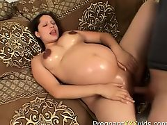 Pregnant slut gets up to fuck