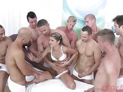 Doris Ivy 10 man Gangbang - She gets ruined