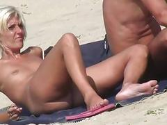 Blonde Milfs Tanning Naked at Beach HD Voyeur Spycam Video