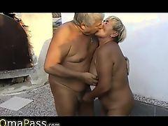OMAPASS senior threesome fuck