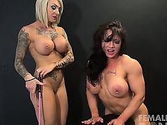Dani Andrews and Brandimae Lesbian Bondage