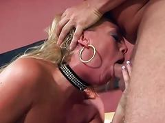 Blonde milf Chelsea getting fucked in thigh high stockings and panties