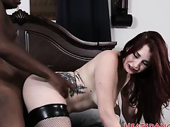 Emo slut loves big black dicks